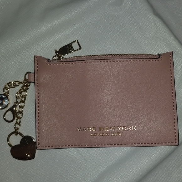 Andrew Marc Accessories - Andrew Marc Rose Pink Coin Purse W/hanging charms